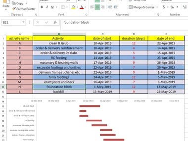MS Project (Excel)