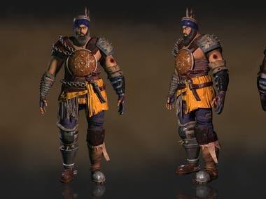 Sikh Warrior Character