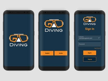 Go Diving Android App