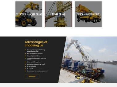 Renting crane website
