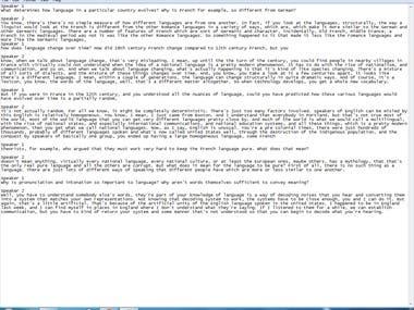 Transcription of Interview.