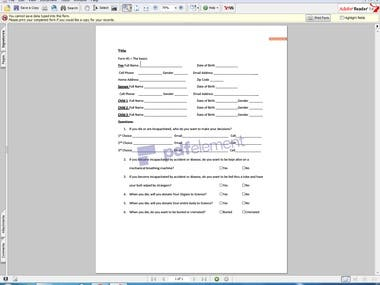 Fillable Forms