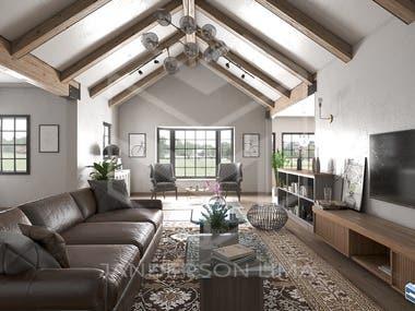 Rendering - living room