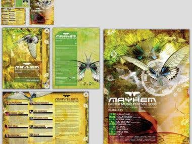 Rave Fliers, CGI+Graphic Design Examples of previous jobs.