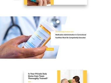 Health related direct care training business website