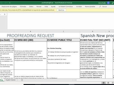 Spanish Proofreading