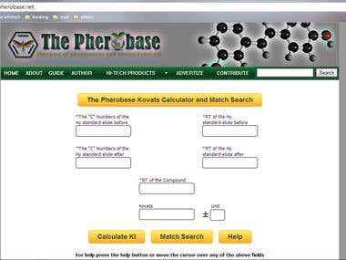 The Pherobase Kovats Calculator and Match Search
