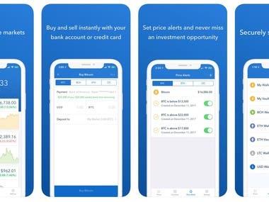 Bitcoin cryptocurrencies app