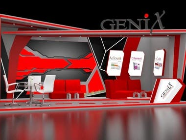 3D Booth Rendering