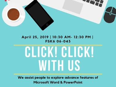 FLYERS : CLICK! CLICK! WITH US
