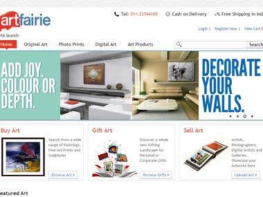 online selling of artical with advance search option