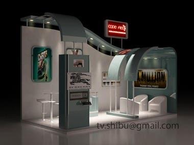 3D Exibition stall - Sample