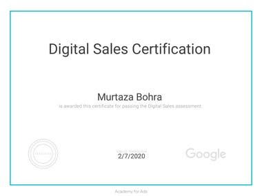 Digital Sales Certificate