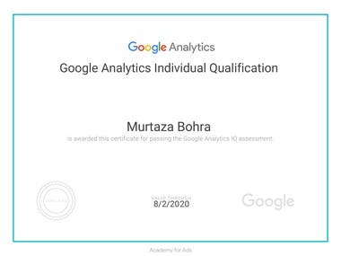 Google Analytics Qualification