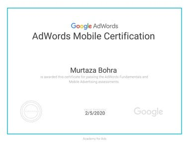 Adword Mobile Certification