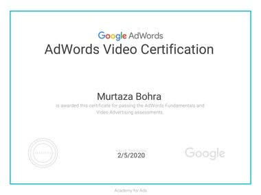Adword Video Certification