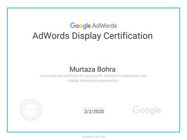 Adword Display Certification