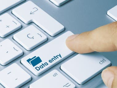 Data Entry | Data Formatting | Web Research