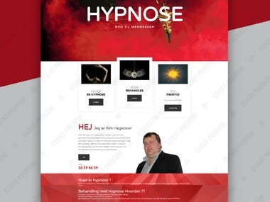 Website for Dainalund Hypnose
