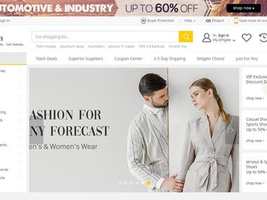 Customized eCommerce Website in Wordpress