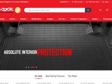 Customized Website in Wordpress for a Local Car Accessories