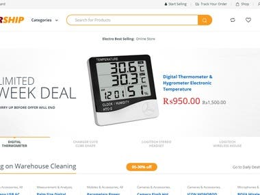 Customized eCommerce Website for Tech Store