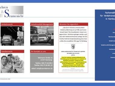 Website (Text und Grafik)