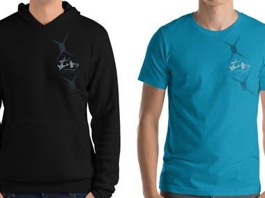 t-shirt and hoody