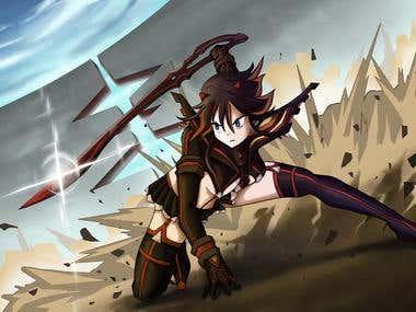 fantasy illustrations / anime style