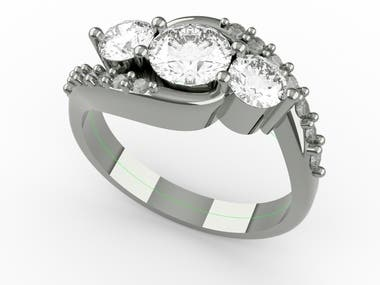 Curved Tension Engagement ring