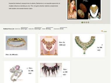 Jewellery Selling Website