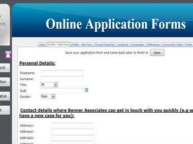Online Web Application