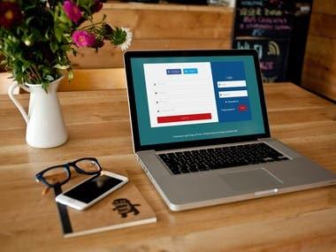SignUp & LogIn form Landing page Design