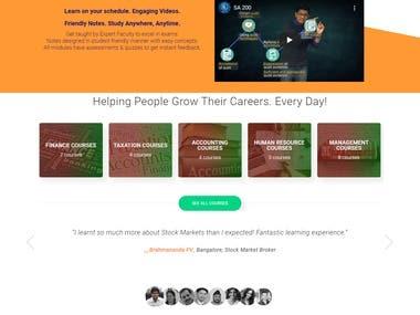 WordPress based Education website