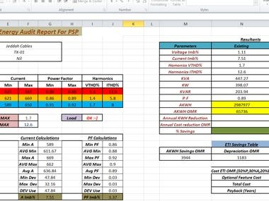 Excel based Engineering Calculations