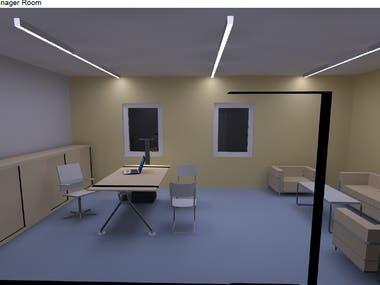Lighting Design-Manager Room