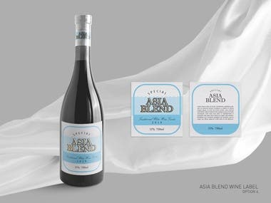 Wine Label Design - ASIA BLEND