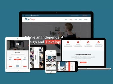 EliteCorp Website Design and Develop