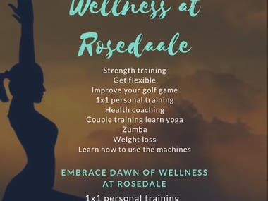 Flyer for Dawn of Wellness at Rosedale
