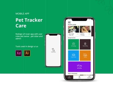 dog tracker care mobile app ui ux