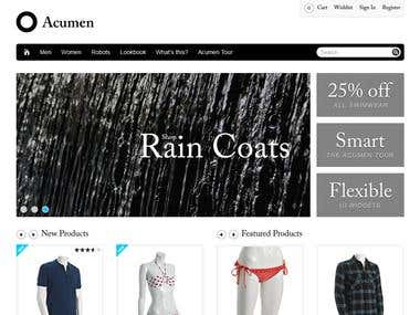 Ecommerce site ( web store )