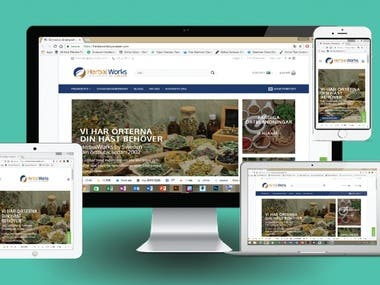 Create a Business site for Herbal Company