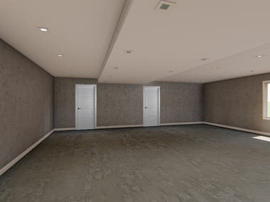 Interior Renders to show False ceiling Design and HVAC