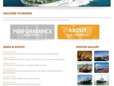 Shipping Company Website Design