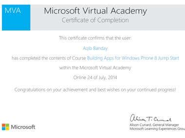 Windows Application Development Certificate