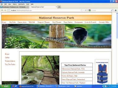 National Reserve Park KIOSK