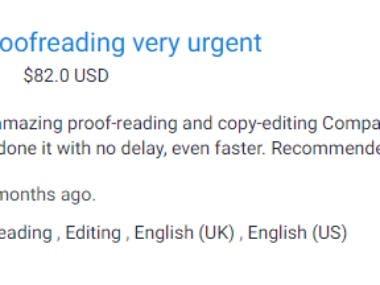 Urgent Proofreading