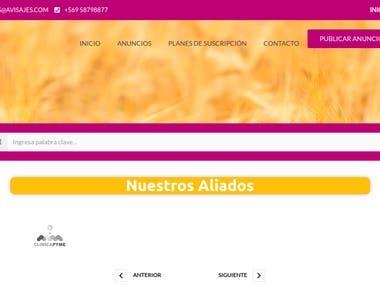 Avisajes Classifieds Website