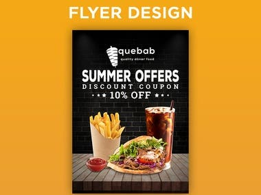 Summer Offers flyer design