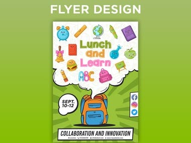 Lunch and Learn Flyer Design